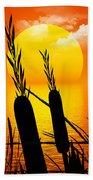 Sunset Lake Beach Towel by Robert Orinski