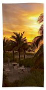Sunset On Grace Bay Beach Towel