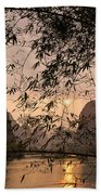 Sunset On The Li River Beach Towel