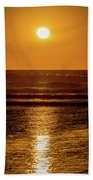 Sunset Over The Ocean Beach Towel