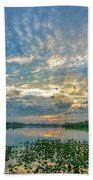 Sunset Over Water Beach Towel