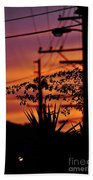 Sunset Sihouettes Beach Towel