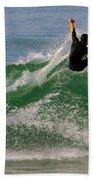 Surfer Beach Towel by Carlos Caetano