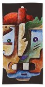 Surrealism Head Beach Towel