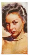 Susan Hayward, Vintage Hollywood Actress Beach Towel