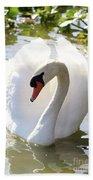 Sweet Swan 2 Beach Towel