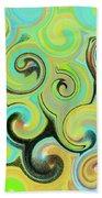 1# Swirls  Beach Towel