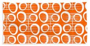 Tangerine Loop Beach Towel