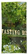 Tasting Room Sign Beach Towel