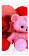 Teddy Bearz Valentine Beach Towel