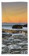 Tessellated Rock Platform And Seascape Beach Sheet