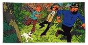 The Adventures Of Tintin Beach Towel