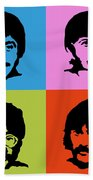 The Beatles Colors Beach Towel