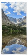 The Beautiful The Louch Lake With Reflection And Clear Water Beach Towel