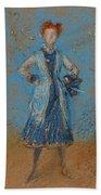 The Blue Girl Beach Towel