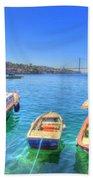 The Bosphorus Istanbul Beach Towel