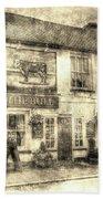 The Bull Pub Theydon Bois Vintage Beach Towel