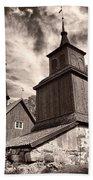 The Church Of Fagervik Beach Towel