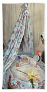 The Cradle - Camille With The Artist's Son Jean Beach Towel
