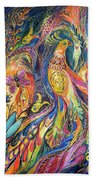 The Dance Of Oranges Beach Towel