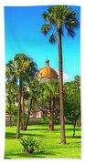 The First Baptist Church Of Tampa  Beach Towel