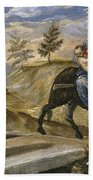 The Flight Into Egypt Beach Towel