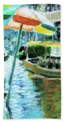 The Floating Market Beach Towel