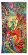 The Flowers And Fruits Beach Towel