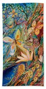 The Flowers And The Fruits Beach Towel