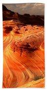 The Glowing Dragon Beach Towel