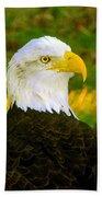 The Great Bald Eagle Beach Towel