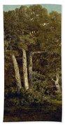 The Great Oaks Of Old Bas-breau Beach Towel