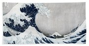 The Great Wave Of Kanagawa Beach Sheet