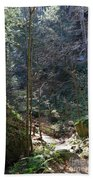 The Green Forest Beach Towel
