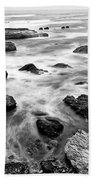 The Jagged Rocks And Cliffs Of Montana De Oro State Park Beach Towel
