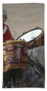 The Kettledrums Of Household Cavalry Beach Towel by Andrew Chittock