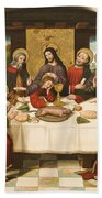 The Last Supper Beach Towel by Master of Portillo
