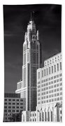 The Leveque Tower Of Columbus Ohio Beach Towel