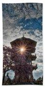 The Light Through The Pagoda Beach Towel