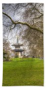 The Pagoda Battersea Park London Beach Towel