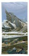 The Polar Sea Beach Towel by Caspar David Friedrich