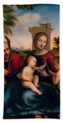 The Rest On The Flight Into Egypt With St. John The Baptist Beach Towel