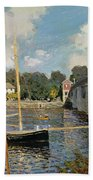 The Seine At Argenteuil Beach Towel by Claude Monet
