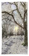 The Snow Forest Art Beach Towel