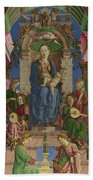 The Virgin And Child Enthroned Beach Towel