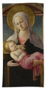 The Virgin And Child Beach Towel