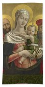 The Virgin And Child With Saints Paul And Jerome Beach Towel