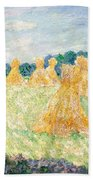 The Young Ladies Of Giverny, Sun Effect Beach Towel
