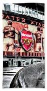 Thierry Henry Statue Emirates Stadium Art Beach Towel