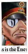 This Is The Enemy - Ww2 Poster Beach Towel